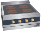 Infrared cooking range with four burners